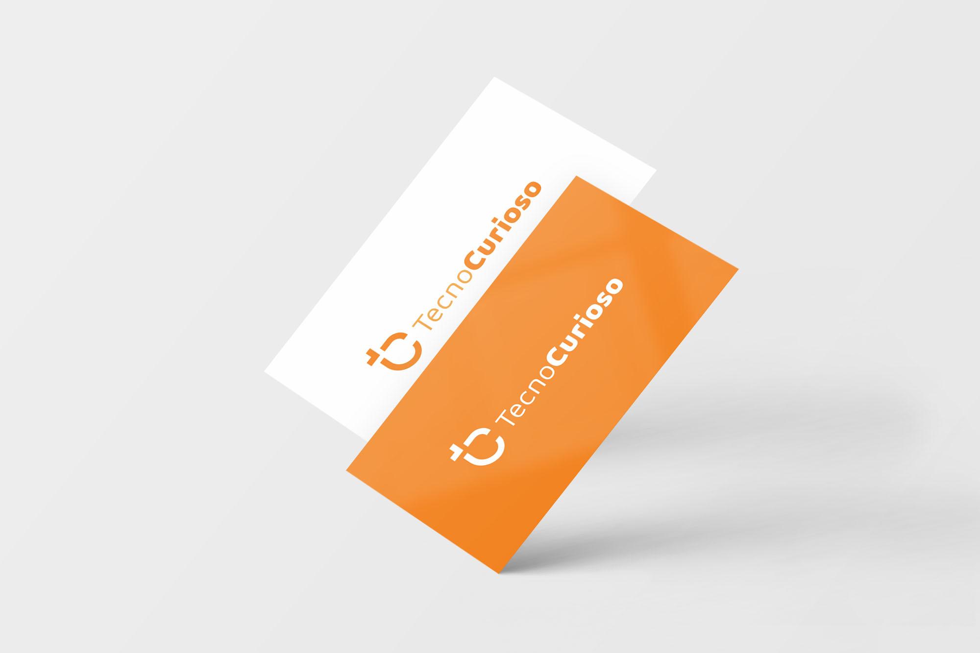 Mockup cartão de visita diagonal