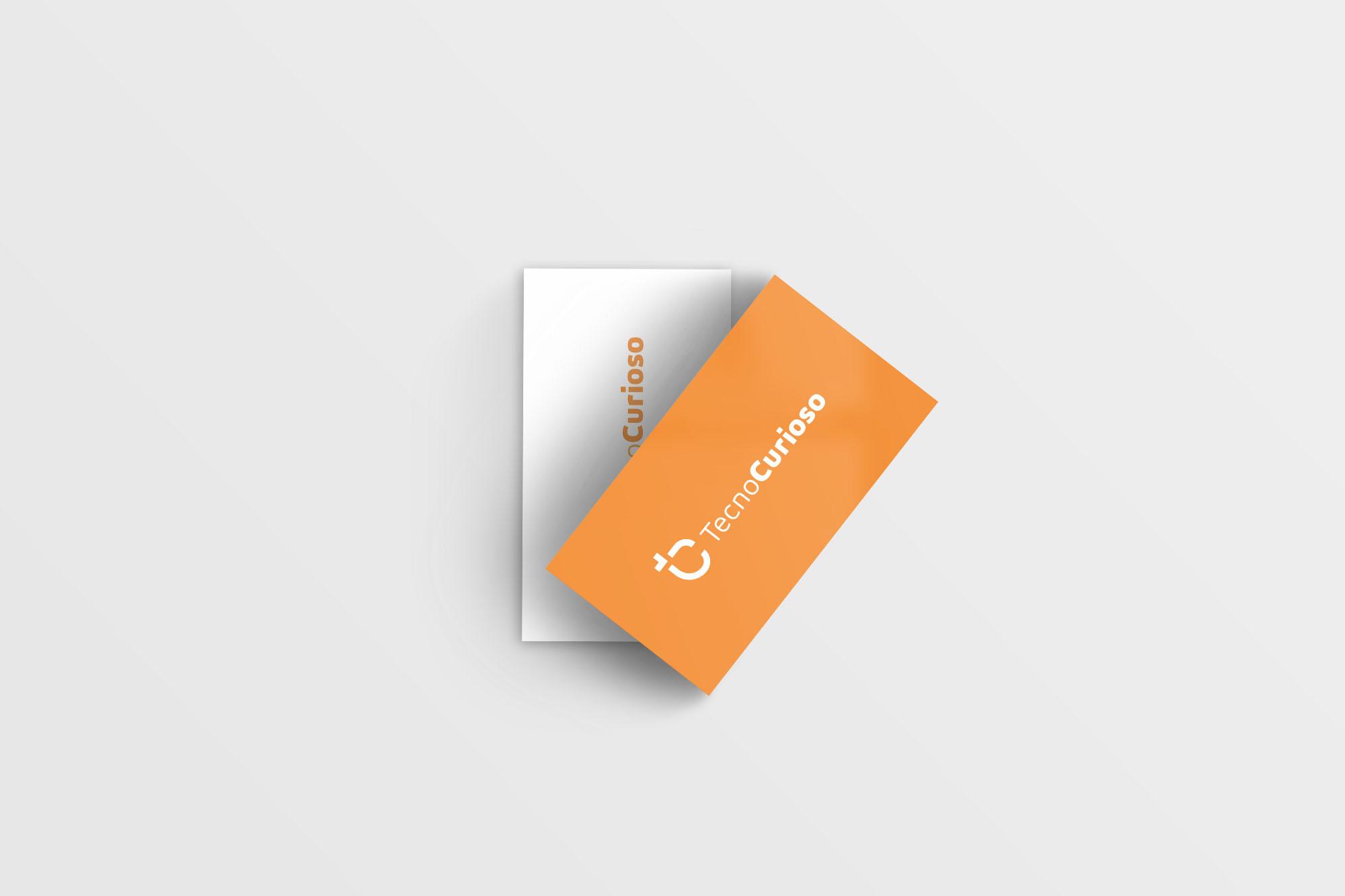 Mockup cartão de visita vista de cima